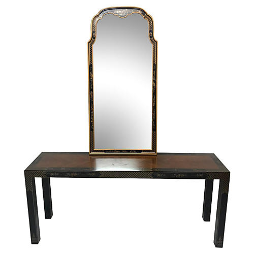 Parson-style Chinese Console and Mirror
