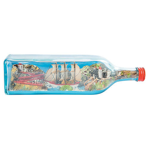 English Ship in a Bottle