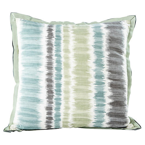 Blue & Green Stripe Pillow