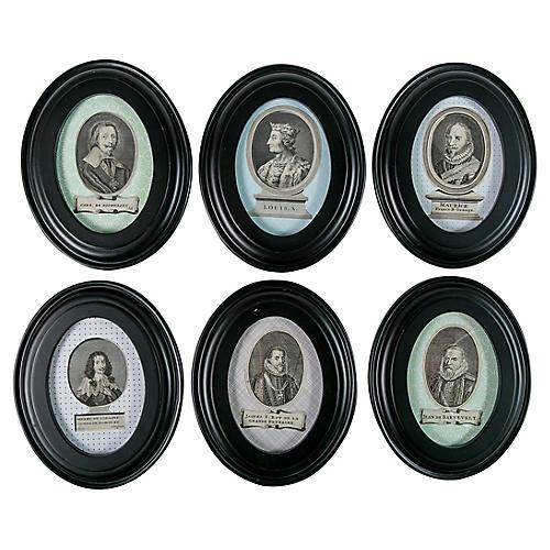 Portraits of 17th-C. Figures, S/6