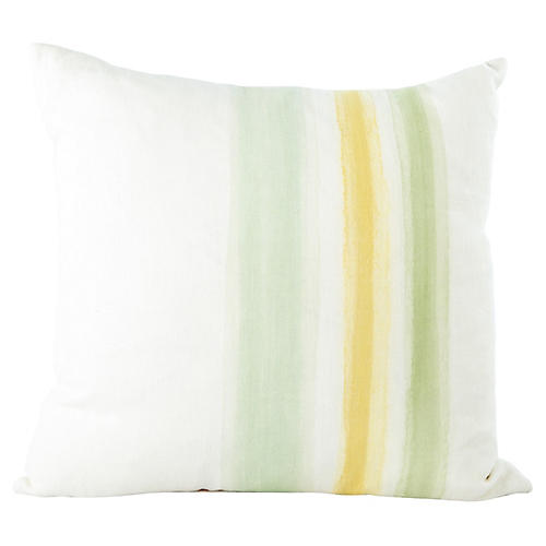 Hand-Painted Stripe Pillow