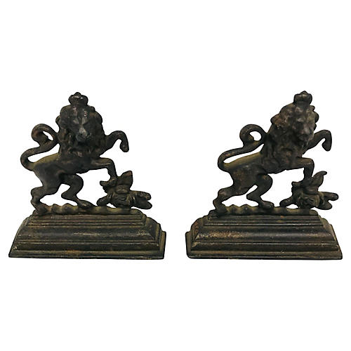 English Lion Bookends
