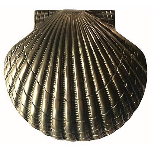 Brass Scallop Shell Door Knocker