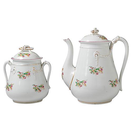 Bone China Coffeepot & Sugar Bowl