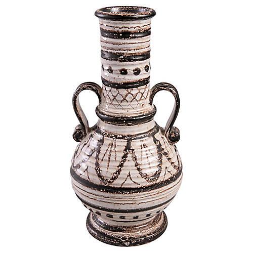 Midcentury Black & White vase