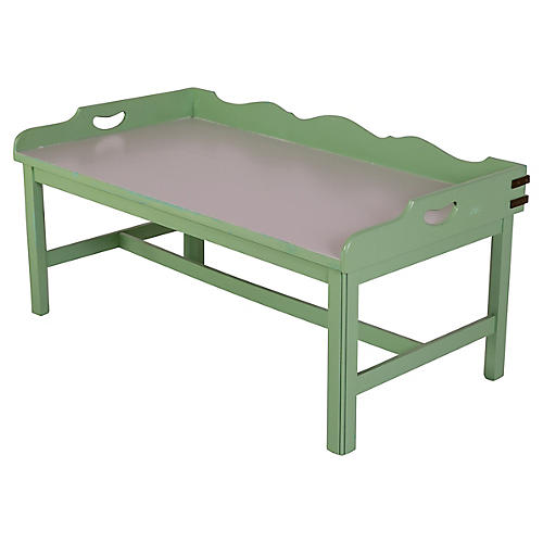Pale Green & Gray Coffee Table