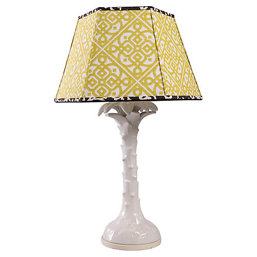 Ceramic Palm Table Lamp
