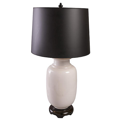 Oversize White Ginger Jar Table Lamp