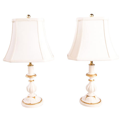 Cottage Table Lamps, Pair