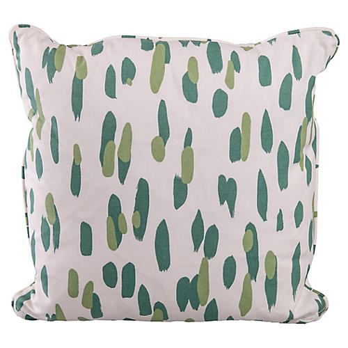 Green & White Pillow