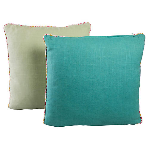 Linen Pillows, Pair