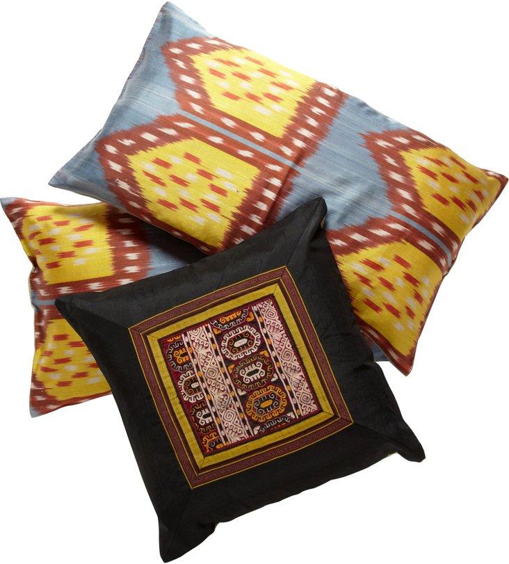Turkish Pillows, Set of 3