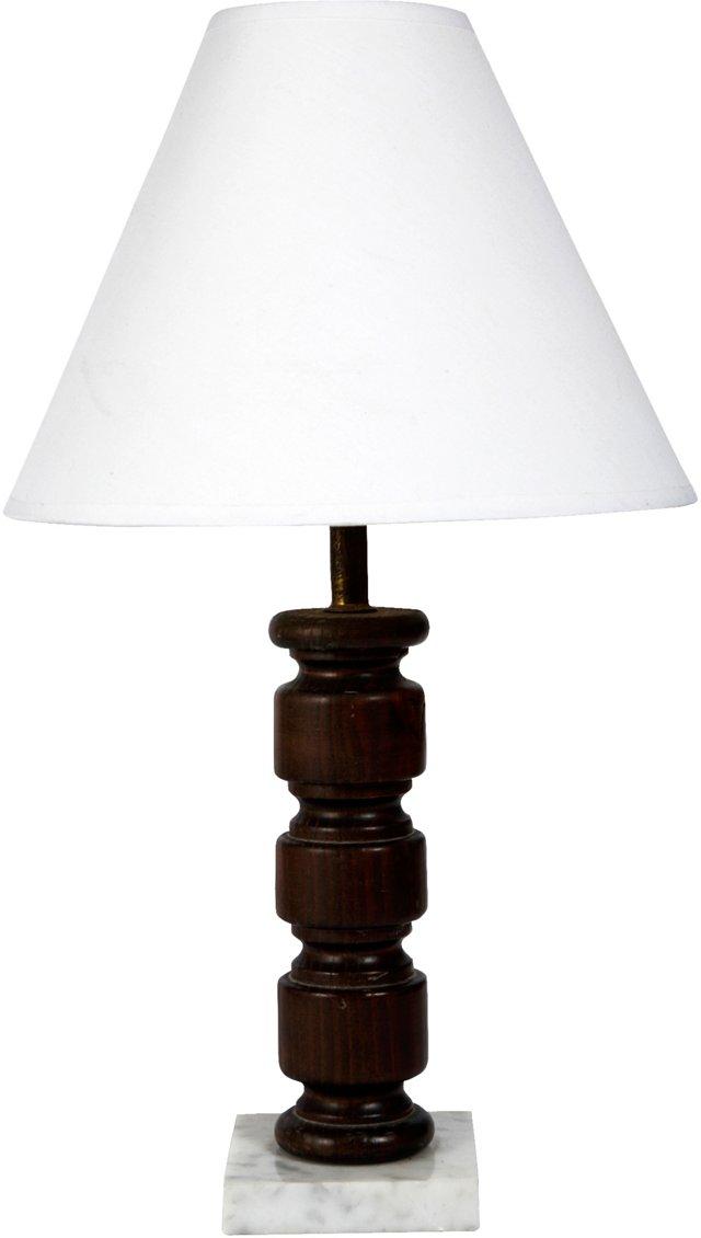Wood & Marble Lamp