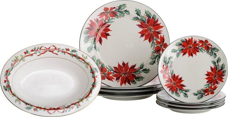 Christmas Plates, Svc. for 4