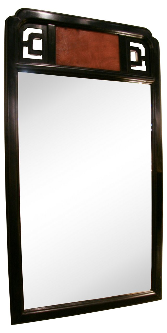 Asian Ebony & Burlwood Mirror