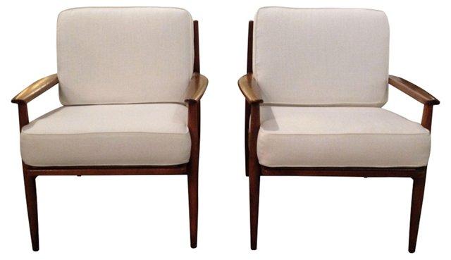 1960s  Baumritter Chairs, Pair