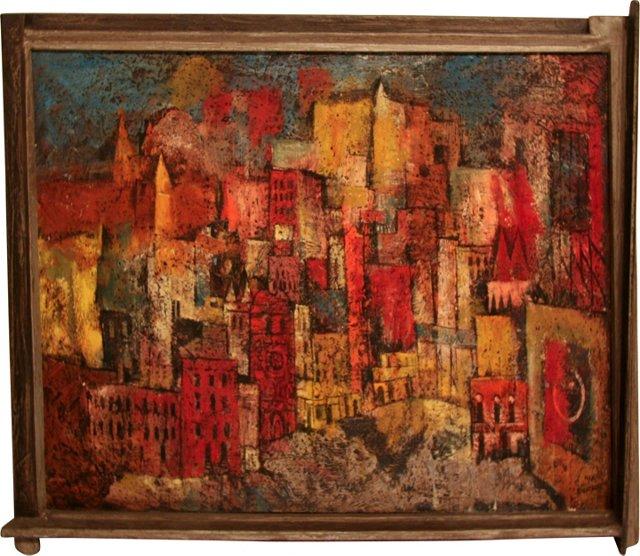 Cityscape Oil by Silverman