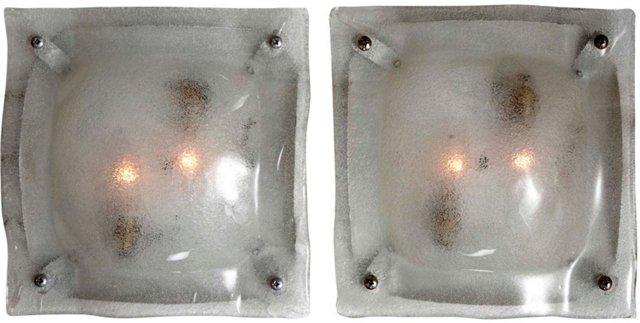 Murano Glass Sconces, Pair
