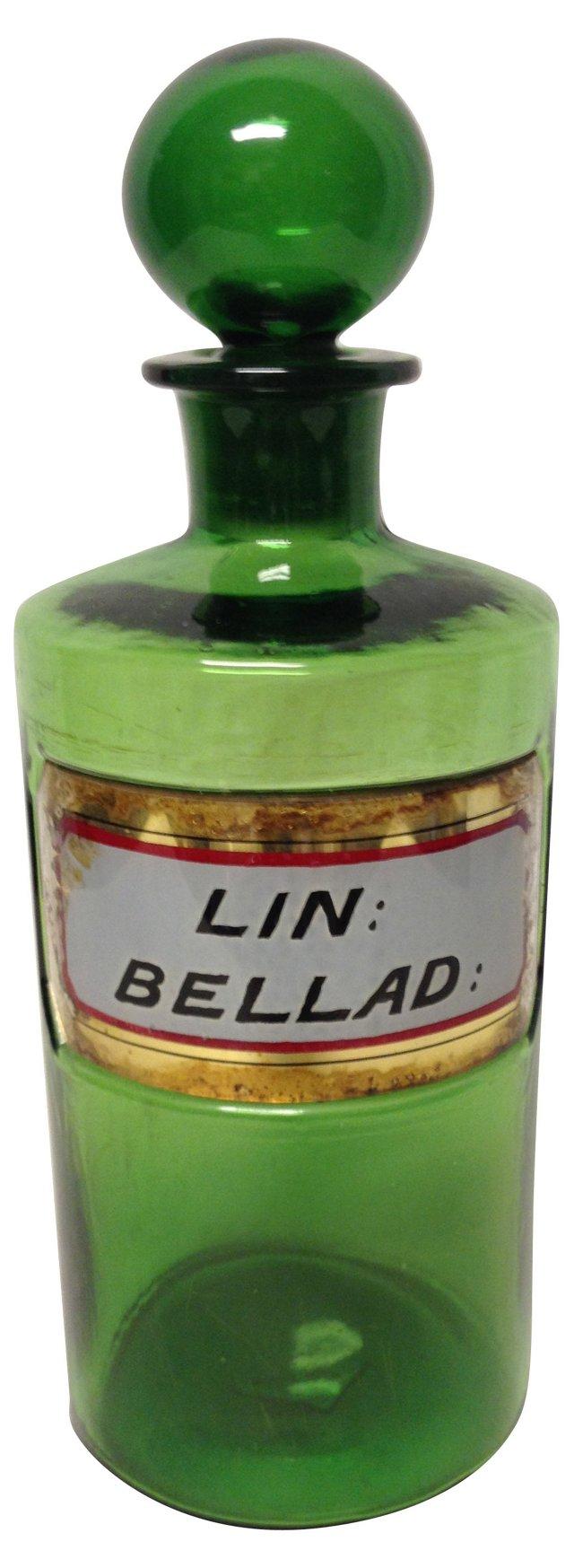 Antique Green Apothecary Bottle