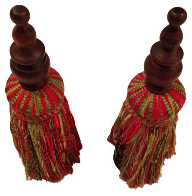 Silk Drapery Tassels, Pair