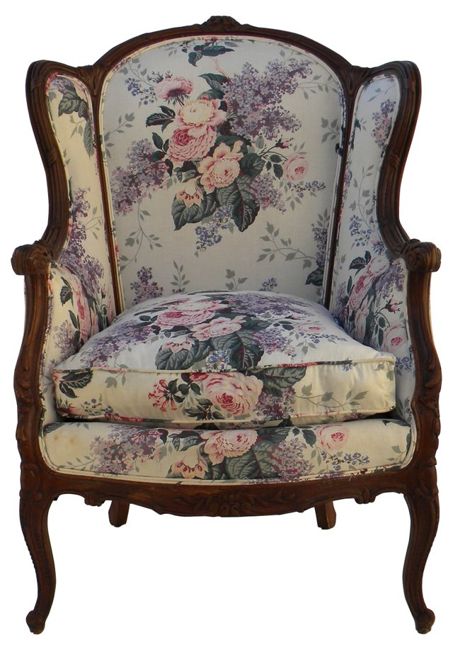 Upholstered Wingback Chair