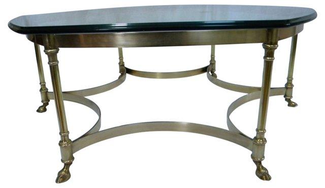 La Barge Brass Coffee Table