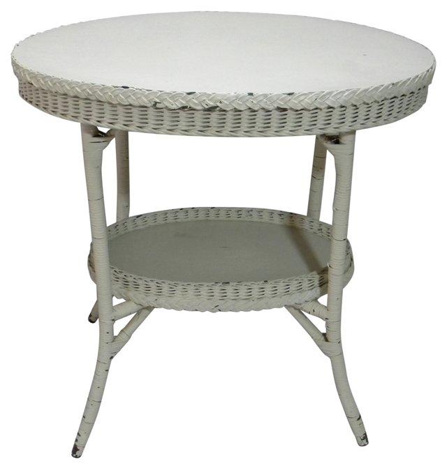 Wicker 2-Tier     Table