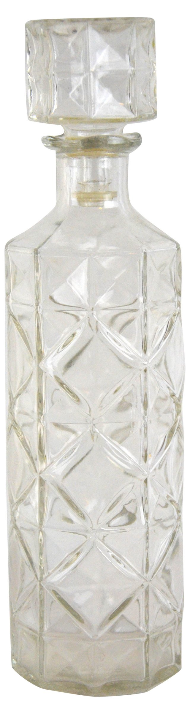 Quilted Clear Decanter