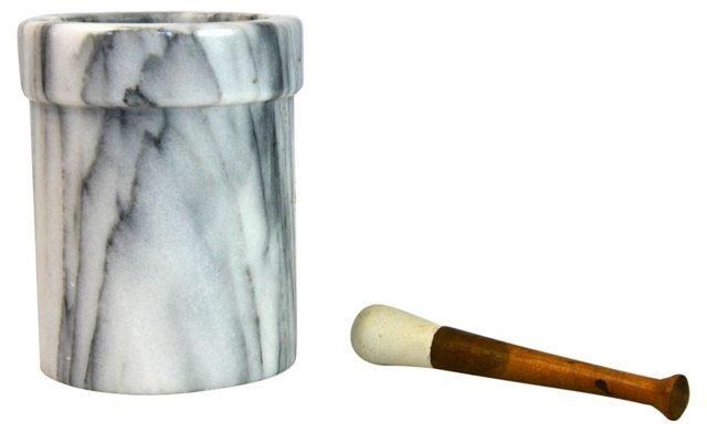 Italian Marble Mortar & Pestle