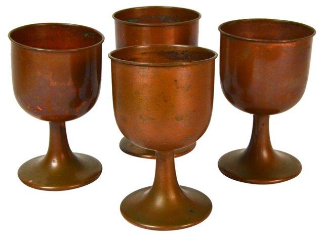 Copper Goblets, Set of 4