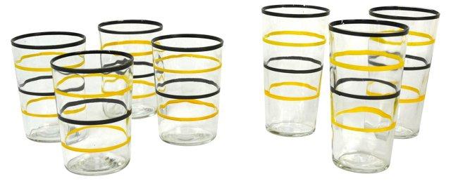 Mixed Tumblers & Juice Glasses, S/7
