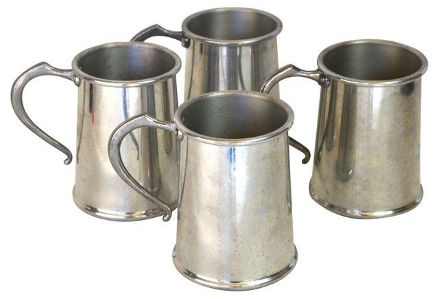 Aluminum Mugs, Set of 4