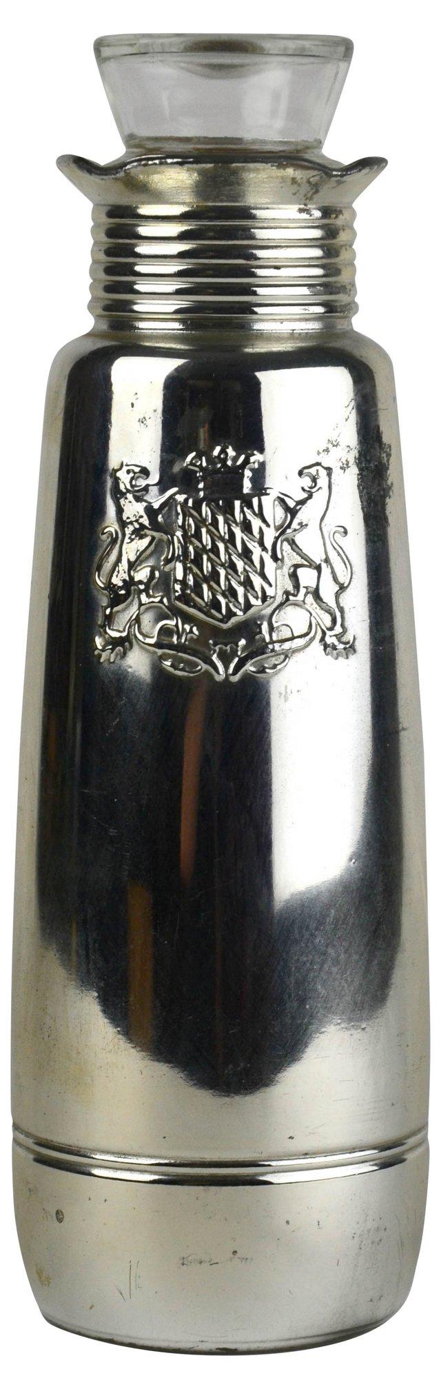 Mercury Glass Crest Decanter