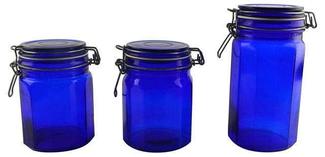 European Canisters, Set of 3