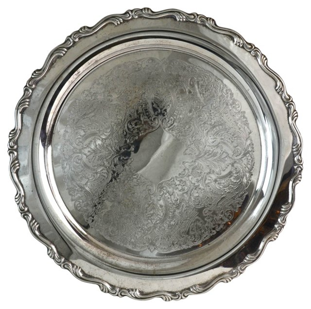 Engraved Silverplate Tray