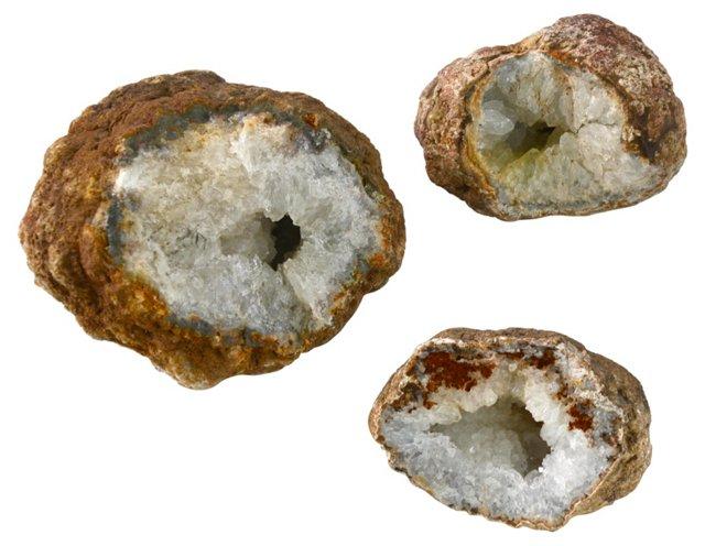 Geode Minerals, Set of 3