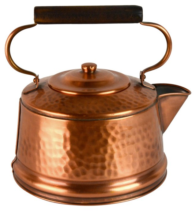 Hammered Copper Kettle