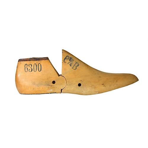 Cobbler's Wooden Shoe Form