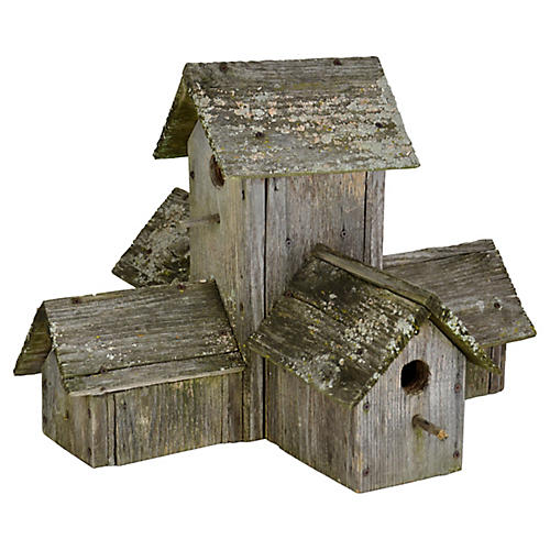 Weathered Cedar Birdhouse