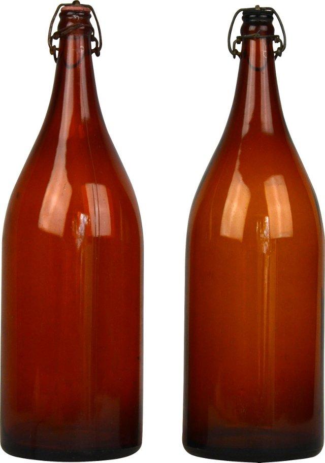 Amber Bottles, Set of 2