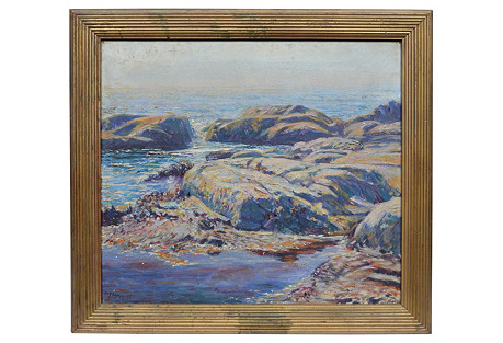 Glistening Coastal Seascape