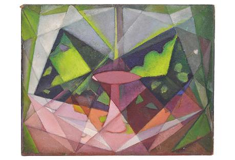 Brooklyn School Cubist Abstract