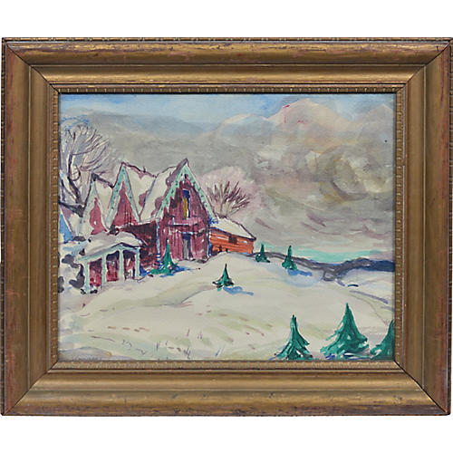 Modernist Winter Landscape, John Wenger