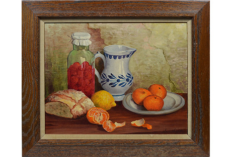 Kitchen Still Life w/ Oranges