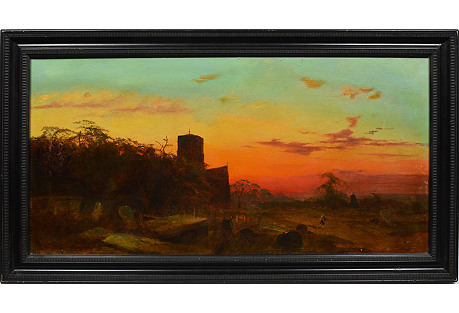 Landscape with Figures at Sunset
