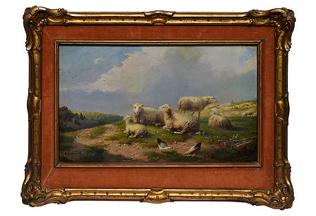 Landscape with Sheep by August Coomans