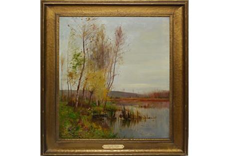 Fall Landscape by Ernest Parton