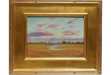Sunset Marsh Landscape