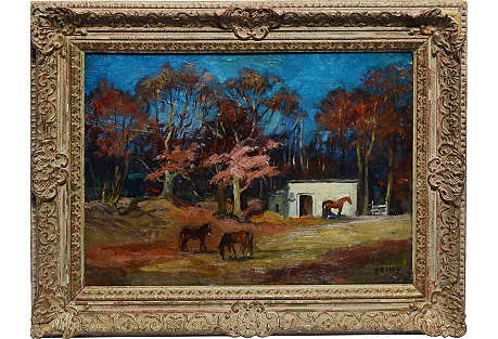 Fall on the Farm with Horses