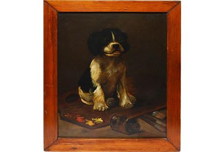 Puppy Portrait on Artist Palette